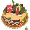 Dorty pro děti - dětské dorty - Auta - Blesk McQueen a Francesco Bernoulli 3D
