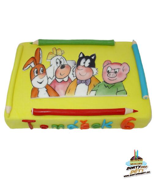 Dorty pro děti - dětské dorty - Čtyřlístek 2D