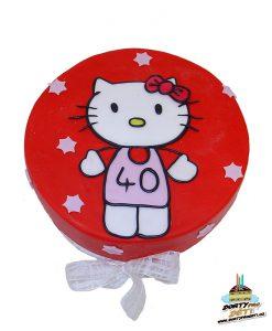 Dorty pro děti - dětské dorty - Hello Kitty se stuhou 2D