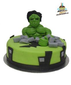 Dorty pro děti - dětské dorty - Hulk ve městě 3D