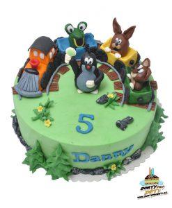 Dorty pro děti - dětské dorty - Krtek a kamarádi 3D