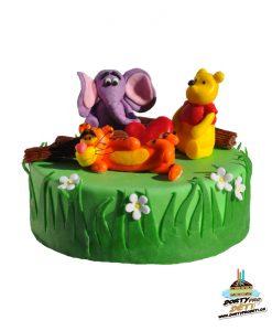 Dorty pro děti - dětské dorty - Medvídek Pú a Tygr