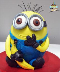 Dorty pro děti - dětské dorty - Mimoň s banánem 3D
