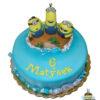 Dorty pro děti - dětské dorty - Mimoni na ostrově 3D