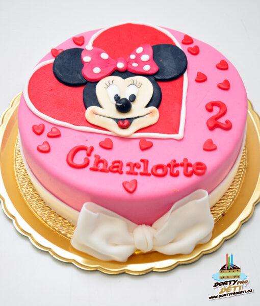 Dorty pro děti - dětské dorty - Minnie 2D