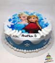 Dorty pro děti - dětské dorty - Anna a Elsa - Ledové království - Frozen (jedlý papír)