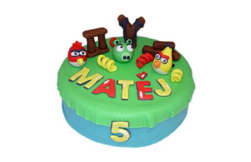 Dětské dorty - ptáci Angry Birds - 3D