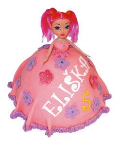 Dětské dorty - panenka